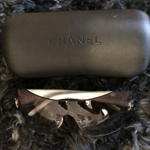 Chanel Quilted Silver Sunglasses